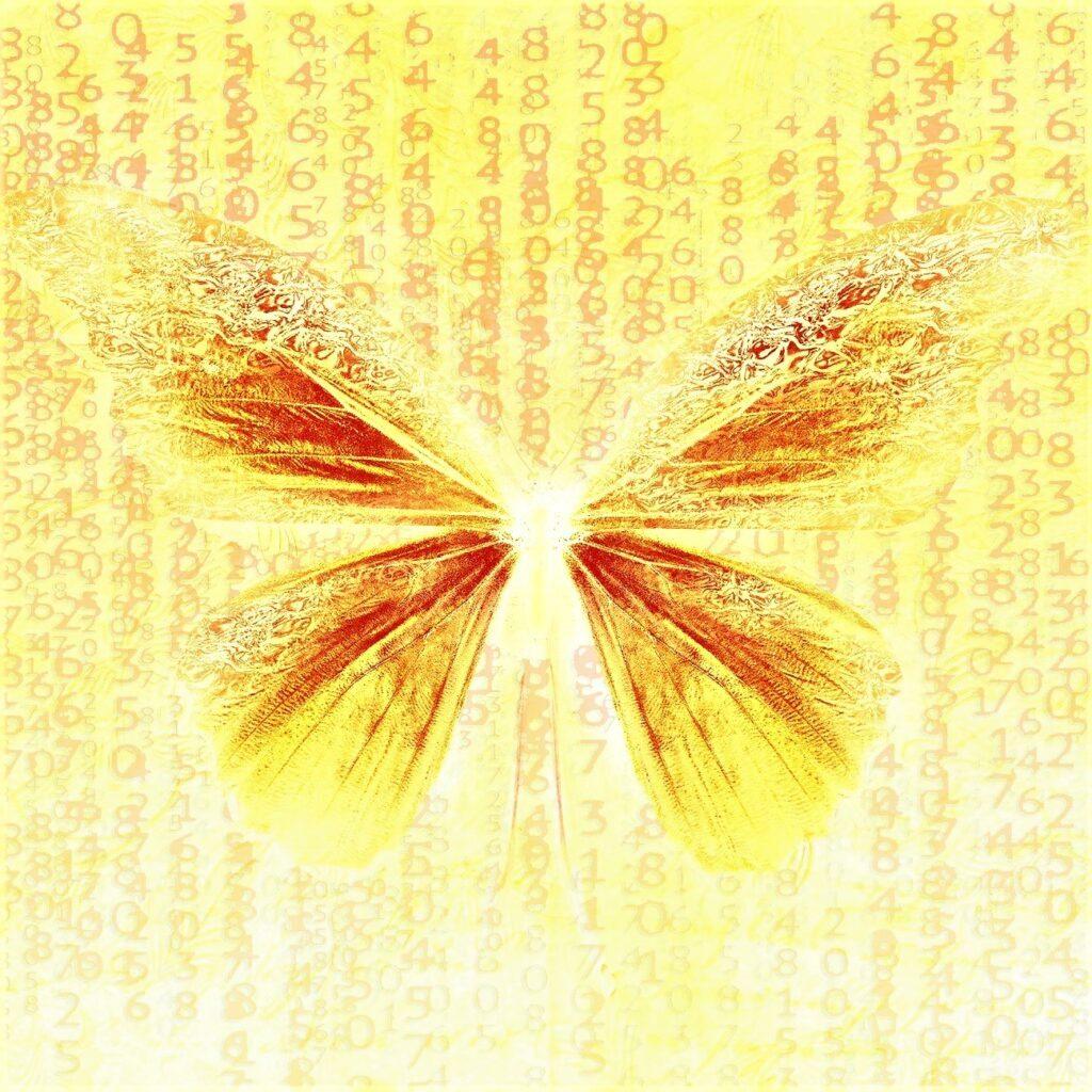 gul-sommerfugl
